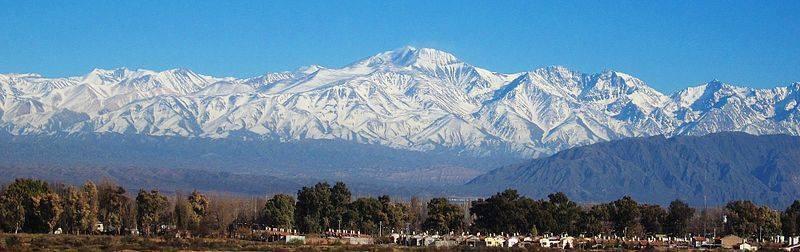 Cordillera, nieve -Mendoza, Agentinaa,